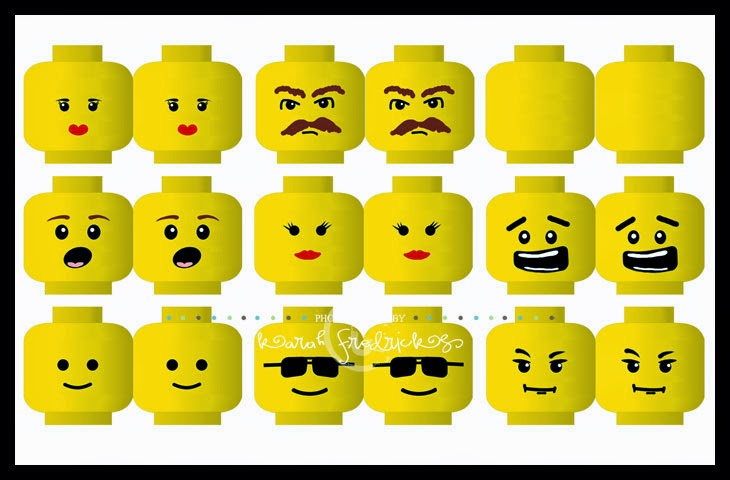 photograph about Lego Faces Printable titled printable Archives - JulieChats