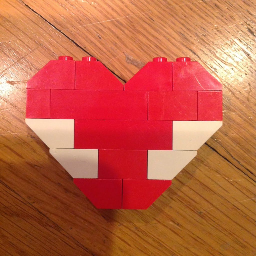 diy lego valentine hearts to exchange