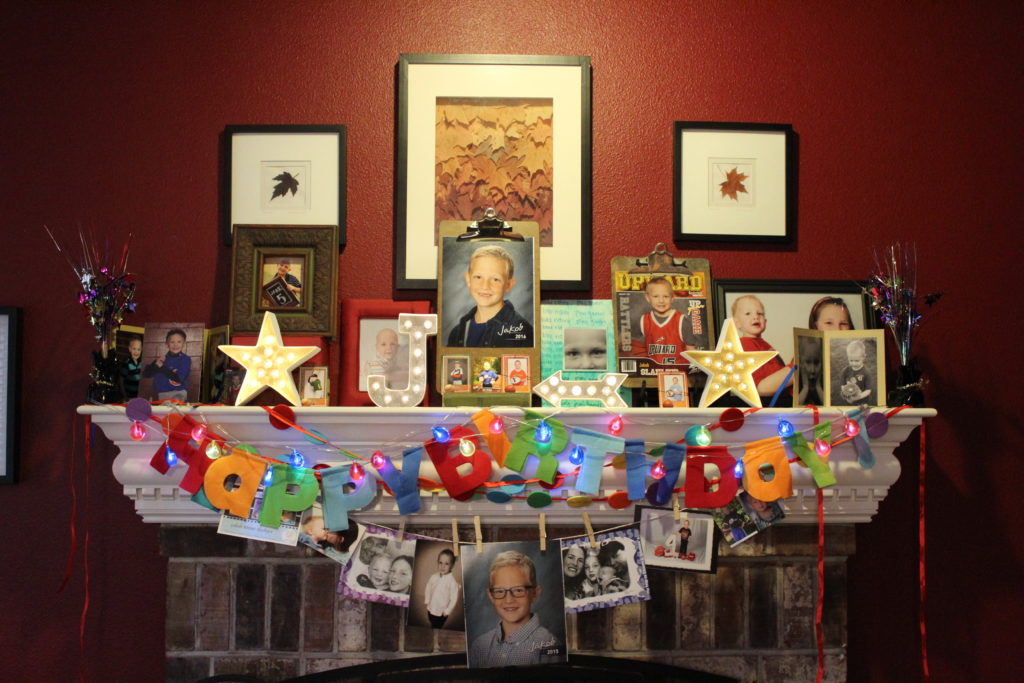 DIY Birthday Shrine from JulieChats.com