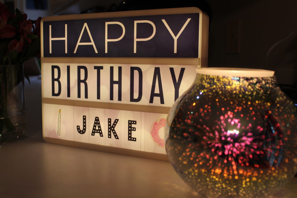DIY Birthday Shrine by juliechats.com