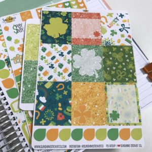 St. Patrick's Day Planner Stickers Unboxing Video from Julie @ JulieChats.com