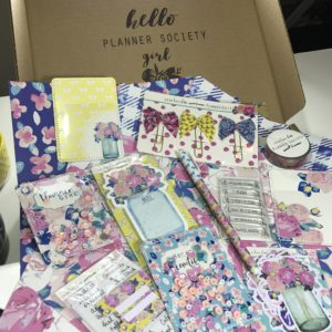 The Planner Society Feburary 2017 Kit Unboxing Video from Julie @ juliechats.com